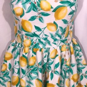 🍊Elle Pinup Style Lemons Dress with Pockets